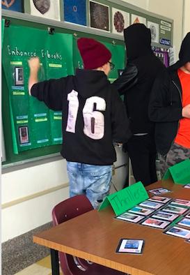 Students make selections
